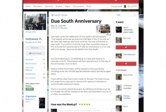 MAY 16, 2015 DUE SOUTH ANNIVERSARY
