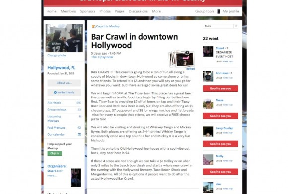 DECEMBER 19, 2015  HOLLYWOOD BAR CRAWL
