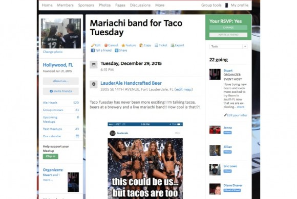 DECEMBER 29, 2015  TACO TUESDAY MARIACHI BAND AT LAUDERALE BREWERY