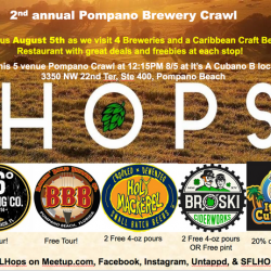 Pompano Brewery Crawl August 22nd starting at 12:30PM at It's a Cubano B
